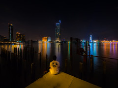 A bit of Thailand (hugo.heran) Tags: thailand longexposure night bangkok asia asiatique river
