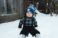 Will - 11.75 Months Old (Katherine Ridgley) Tags: toronto torontobaby winter snow yard backyard outdoor outdoors outside cold chill chilly mapleleafs goleafsgo baby babyboy babyfashion cutebaby cute family toddler