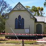 Natimuk. Church in danger.  St Aiden's Anglican Church built in carpenter gothic style in 1890. thumbnail