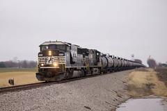 NS 6814 North (BSTPWRAIL) Tags: ns norfolk southern railroad railway rail road way sd60m c409w locomotive locomotives empty ethanol train illinois deer creek