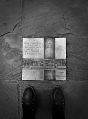Testimony (alejandrabassoph) Tags: sansepolcro tuscany architecture built structure closeup day historical plaque shoes