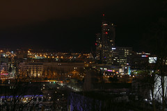 Night in Gdynia (Krzysztof D.) Tags: gdynia pomorskie pomorze polska poland polen architecture architektura city miasto trójmiasto modernizm modernism night noc nacht