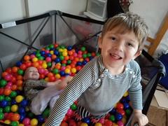 Sam in the ball pit (quinn.anya) Tags: sam preschooler paul toddler ballpit