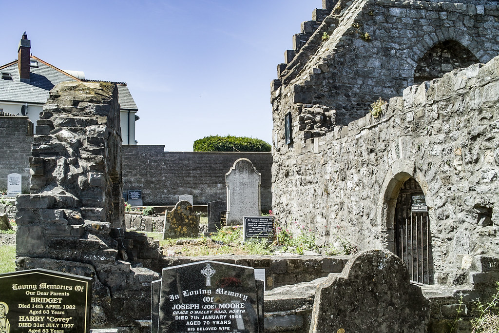 BACK IN JANUARY 2009 I VISITED THE OLD GRAVEYARD IN HOWTH [I HAD TO LEAVE BECAUSE I WAS ATTACKED BY GULLS]-135904