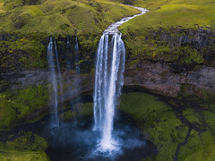 Seljalandsfoss Iceland (Mike Ver Sprill - Milky Way Mike) Tags: seljalandsfoss iceland icelandic waterfall waterfalls travel explore mavic pro dji aerial flying above stream river landdscape nature