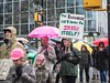 Women's March 2018 Vancouver, Canada (Sally T. Buck) Tags: whyimarch vancouverwomensmarch womensmarch womensmarch2018 marchonvancouver march women solidarity vancouver british columbia canada january 20 2018 global event assembly peaceful allies share values inclusion acceptance opposition racism misogyny transphobia homophobia xenophobia indigenous native aboriginal oppression rights human coastsalish xʷməθkwəy̓əm musqueam sḵwx̱wú7mesh squamish səl̓ílwətaʔ tsleilwaututh sign protest street activist activism potus president united states donald trump fight equality diversity hate nasty pussy love future feminist patriarchy resistance voice demonstrate demonstration streetphotography everybodystreet sally buck sallybuck