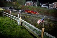 Lehigh Valley at Gallitzin (benpsut) Tags: ns ns8104 lehighvalley valleygirl norfolksouthern nspittsburghline trains railroad gallitzintunnelpark park tunnel night nightshot nightphoto flash flashphoto