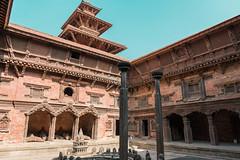 Patan Durbar Square, Kathmandu, Nepal (Sajivrochergurung) Tags: nepal architecture tradition sky kathmandu palace