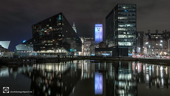 A Heart of Glass (alundisleyimages@gmail.com) Tags: buildings architecture reflections city towncenter liverpoolwaterfront mannisland liverbuildings northwestengland roads traffic lighttrails night longexposure docks waterways leedsliverpoolcanal maritime thestrandliverpool