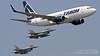 Boeing B737-78J-WL YR-BGH Tarom + Lockheed F-16AM Block 15 MLU RoAF | Bucharest International Air Show 2017 (Horatiu Goanta Aviation Photography) Tags: boeing 737 boeing737 737700 b737700 b737 737ng 737nextgeneration winglet winglets blendedwinglet blendedwinglets airliner narrowbody singleaisle cfm56 b73778jwl 73778j yrbgh tarom rot skyteam romanianairtransport taromromanianairtransport turbofan civilaviation commercialaviation aerospace airplane plane aviation aircraft flight wings jet passenger passengeraircraft passengerjet jetairliner jetliner jetengine turbine turbojet highbypassturbofan bypassturbojet bucharestinternationalairshow bias bucharestbaneasa baneasa bbu lrbs bbulrbs aerobatics airshow internationalairshow goanta horatiugoanta bias2017 bucharestairshow2017 bucharestinternationalairshow2017 f16 f16block15 fightingfalcon f16fightingfalcon f16viper fighter fighterjet roaf romanianairforce nato f16mlu forteleaerieneromane forțeleaerieneromâne planespotter planespotting