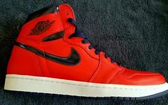 My new  AJ1's#Kicks. #AJ1s #RigsRocks #Nike #AirJordans #RedWhiteAndBlue (~☮Rigs Rocks☮~) Tags: rigsrocks aj1s nike airjordans kicks redwhiteandblue davidletterman