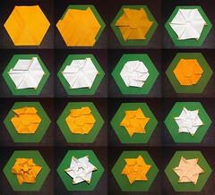 Folding process (De Rode Olifant) Tags: foldingprocess tutorial origami paper marjansmeijsters paperfolding hexagon triangle tessellation basics duo1
