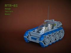 RTR-83 rough terrain rover (adde51) Tags: adde51 lego moc rover febrovery 2018 tracks technique classicspace space scifi vehicle