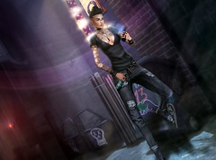#132 (Neo Concept) Tags: maitreya secondlife catwa beer smoking cigarette poser clubbing hang cellphone