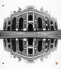 Pseudo Reflection (Shikher Singh) Tags: humayunstomb fog morning blackandwhite monochrome mughal mughalarchitecture heritage worldheritgemonument monument mausoleum delhi nizamuddin shikhersimagery