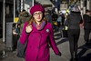 (She Wore A) Raspberry Beret (Leanne Boulton) Tags: people portrait urban street candid portraiture streetphotography candidstreetphotography candidportrait streetportrait eyecontact candideyecontact streetlife woman female girl bright colourful pink raspberry beret eyes face expression look mood hat style stylish fashion tone texture detail depthoffield bokeh naturallight outdoor sunlight light shade shadow city scene human life living humanity society culture canon canon5d 5dmkiii 70mm ef2470mmf28liiusm color colour glasgow scotland uk