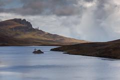 Lonely island in Loch Leathan (Tim&Elisa) Tags: scotland isleofskye canon landscape nature lochleathan portree lake water oldmanofstorr storr island