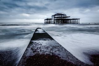 Stormy night in Brighton