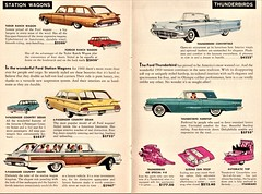 1960 Ford Station Wagons & Thunderbirds (aldenjewell) Tags: 1960 ford station wagon country squire sedan ranch thunderbird convertible hardtop mailer booklet