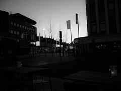 Corners and Flags (CloudBuster) Tags: stylish stijlvol leeuwarden ljouwert terras straathoek sfeer atmosphere black white pubs restaurants go out drink eat lights social