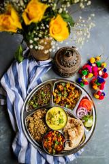Sunday Thali (Sia Krishna) Tags: indianthali vegetarianthali indianvegetarianthali monsoonspice foodstyling food foodie foodphotography foodblogger foodstilllifephotography indianfood indianrecipe indiancuisine regionalcuisines recipe recipes