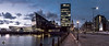 Destination Liverpool (alundisleyimages@gmail.com) Tags: liverpool mannisland panorama dusk architecture docks city traffic road museum liverbuilding theliverpoolwaterfront portsandharbours northwestengland cars trafficlights lowlight reflections weather town citycenter paving cobbles maritime