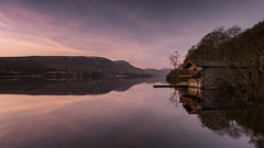 breaking dawn at the boathouse. (akh1981) Tags: manfrotto mountains nikon nature nisi nationalpark unesco uk ullswater cumbria outdoors sunrise dawn landscape lakedistrict longexposure wideangle walking water reflections dukeofportland boathouse sky calm travel trees tranquil tranquility