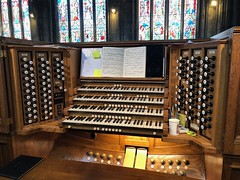 The Mighty Schulze (BiggestWoo) Tags: recital concert music windows window glass stained stops manual keyboards manusals keyboard organ church minster doncaster