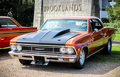 1966 Chevrolet Chevelle. (dementedb43) Tags: 1966 chevrolet chevelle v8 brooklands museum 2016 muscle drag american america usa us auto car classic