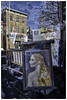 Blonde window art color (autobonz) Tags: streetart street blond beacon lovely fujifilmx100t 23mmf20