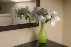 White flowers in green vase reflected on a mirror with a window at the bottom on the roof (TodoPOI) Tags: anniversary background beautiful beauty bouquet bright bunch celebration color copy day decor decorate decoration design detail elegance event floral flower foliage gift glass green group holiday home house indoor interior large life light love lovely mirror natural nature nobody object plant reflection room spring style table vase white window