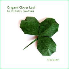 clover leaf (polelena24) Tags: origami leaf clover square shamrock