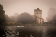 Cutting through the fog (powellspin) Tags: rowing rower marlow riverthames berkshire bisham allsaintschurch fog