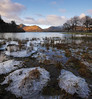 Ice islands (Thrift) Tags: derwentwater lakedistrict keswick winter ice water sunrise lake strandshagbay