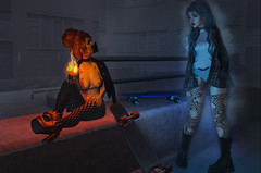 Fire and Ice (Bambi Joyce) Tags: milk motion gaia coco asteroidbox bttb su truth epiphany collabor88 seasons story complex scandalize abrasive livalle randommatter pocketgacha monso sl second life fire ice fashion clothes photography photoshop photographer blogger bloggers events blue red ootd lotd lookbook virtual girls world reality 3d