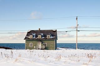 Vieille maison probablement de pêcheur à Matane.