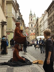 Magic of the city Prague. Unclear message ... (kasuog) Tags: prague magic street artists turist architecture background building europe old outdoor carti5 wall historical sructure built block view church karma cobbles
