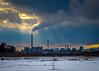 Tinge (ristoranta) Tags: savupiippu savu winter helsinki talvi canonpowershotsx60hs pilvet luonnonsuojelualue hdr smoke pilvi cloud auringonlasku taivaspilvet chimney kaupunki sunset naturereserve vanhankaupunginlahti