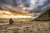 Sunrise in Estaleirinho Beach (rqserra) Tags: sunrise beach fisherman clouds water pescador amanhecer praia nuvens agua sun sol pegadas steps rqserra brazil