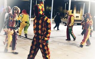 Botargas en el desfile de Carnaval.