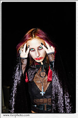 (gomez_nz) Tags: psi midnight night dark scary lone lonely fright fear afraid frietening chilling scarey alarming alone solitary unaccompanied lonesome single gothic goth piercings makeup vampire subculture fearfulness emotion frighten scare affright stimulate shake excite dread aghast alarmed fearful terrified ghost spirit dead death haunt caucasian female feminine model person adult woman young evilspirit black evel anticrist