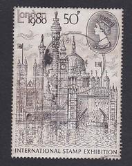 London stamp exhibition 1980 (rhonddalad) Tags: stamps stamp royalmail philately 50pencestamp londonstampexhibition1980