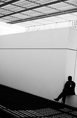 People at the Louvre (relishedmonkey) Tags: nikon d5300 black white louvre abu dhabi monochrome lines design architecture day time outlines 35mm 18g