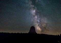 Close Encounter with the Milky Way (Chuck - PhotosbyMCH) Tags: photosbymch landscape nightscape milkyway devilstower devilstowernationalmonument wyoming usa canon 5dmkiv 2017 night nightsky astrophotography nationalparkservice mountain laccolithicbutte butte stars closeencountersofthethirdkind outdoors travel summer