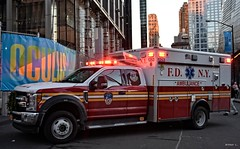 FDNY - EMS 1253 (Arthur Lombard) Tags: fdny newyork firedepartment firebrigade firetruck firestation ems ambulance emergency lightbar bluelight ford fordf550 nikon nikond7200 112 18 911 999