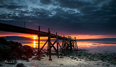 Unbroken (RonnieLMills 5 Million Views. Thank You All :)) Tags: kinnegar pier wooden jetty sunset holywood county down unbroken