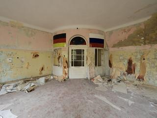 Abandoned military soviet base