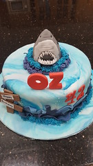 Jaws cake (Victorious_Sponge) Tags: jaws shark birthday cake mans boys girls party sea blue