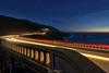 Bixby Blue Hour (rajaramki) Tags: bixbybridge bluehour lighttrail bridge california highway1 pacificcoasthighway
