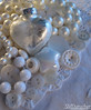 180205 Monochrome WhiteHrtCollage2 c (SMD Photos) Tags: monochrome white heart star iridescent button bead pearls lace marbles frosted shiny matte tabletop macro
